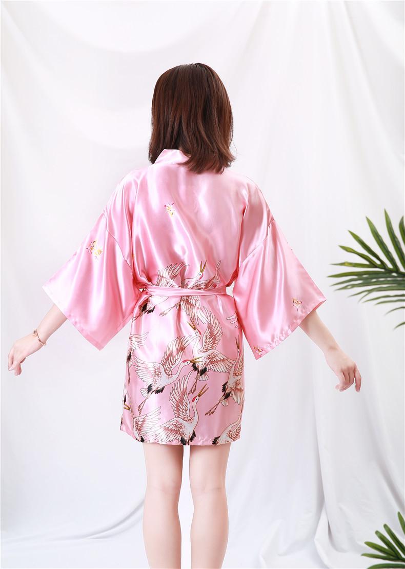 Áo choàng tắm, áo khoác ngủ nữ phi lụa sang trọng 9
