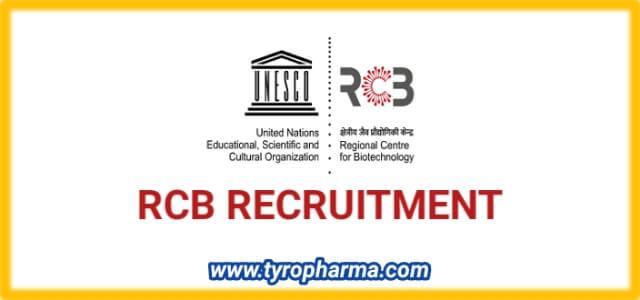 RCB Recruitment 2020