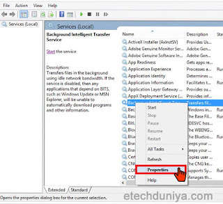 How to permanently disable BITS (Background intelligent transfer service):
