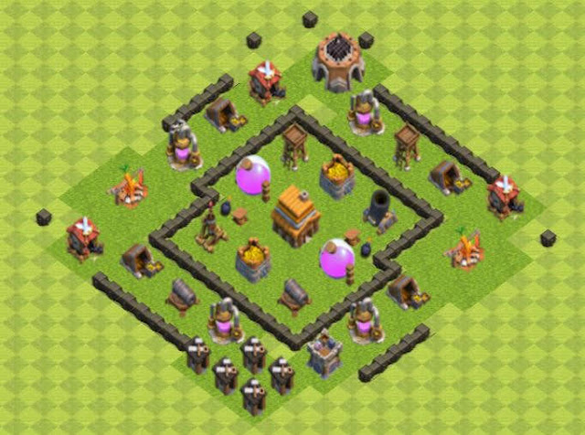 Base COC TH4 Farming 1