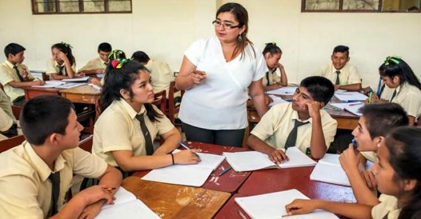 MINEDU: Este mes habrá incremento de remuneraciones para más de 405 mil docentes, informó el Ministerio de Educación
