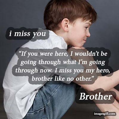 miss you status for brother