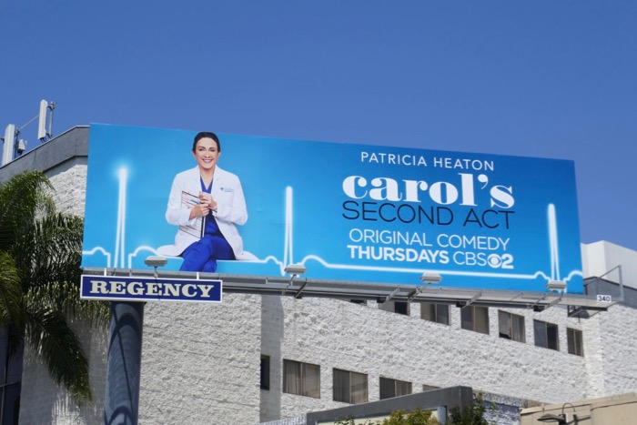 Carols Second Act series premiere billboard