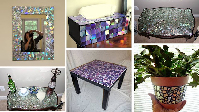 Brilliant DIY Ideas How To Reuse Old CDs to decorate interior furniture