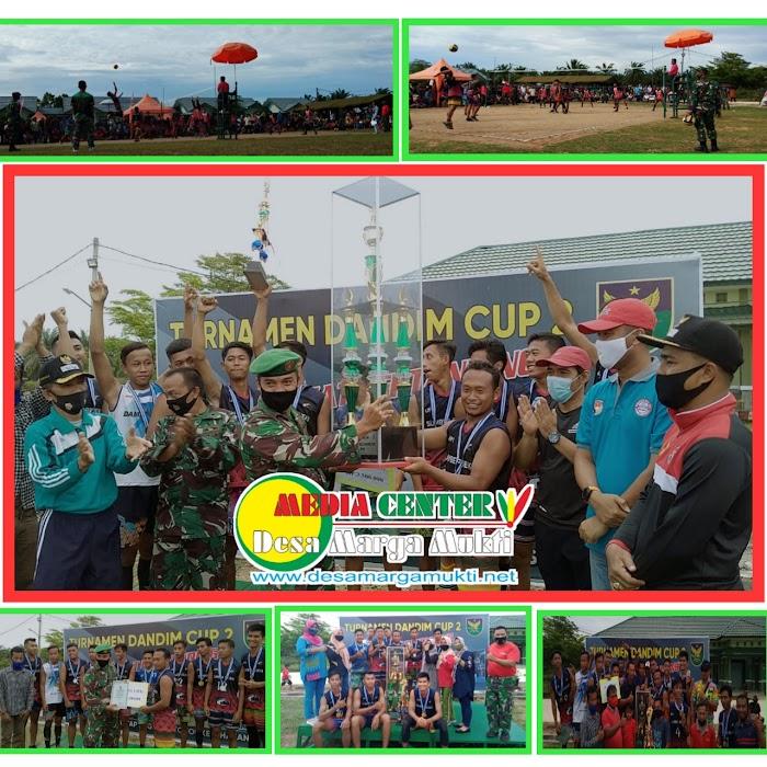 JUARAI DANDIM CUP 2, TIM VOLY BALL PUTRA MARGA MUKTI BAWA PULANG PIALA BERGILIR