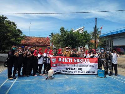 DPW Pekat IB Lakukan Penyemprotan Disinfektan di Sukanegara Lampung Selatan