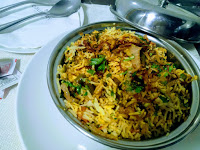 Serving veg biryani for veg biryani recipe