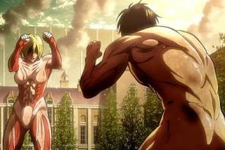 Attack Titan vs Female Titan
