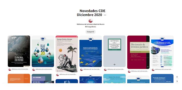 Novedades en el Centro de Documentación Europea - Diciembre 2020