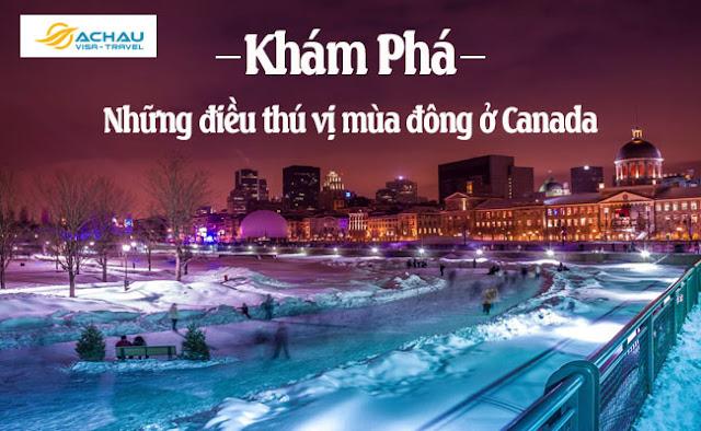 Khám phá những điều thú vị vào mùa đông ở Canada