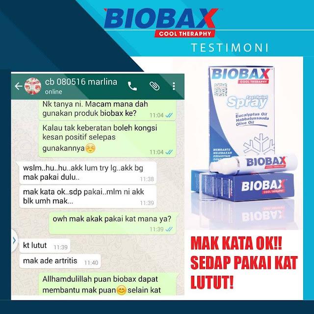 testimoni pengguna biobax cool theraphy