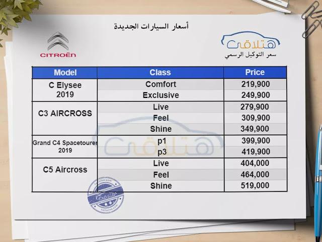 Citroen Prices in Egypt
