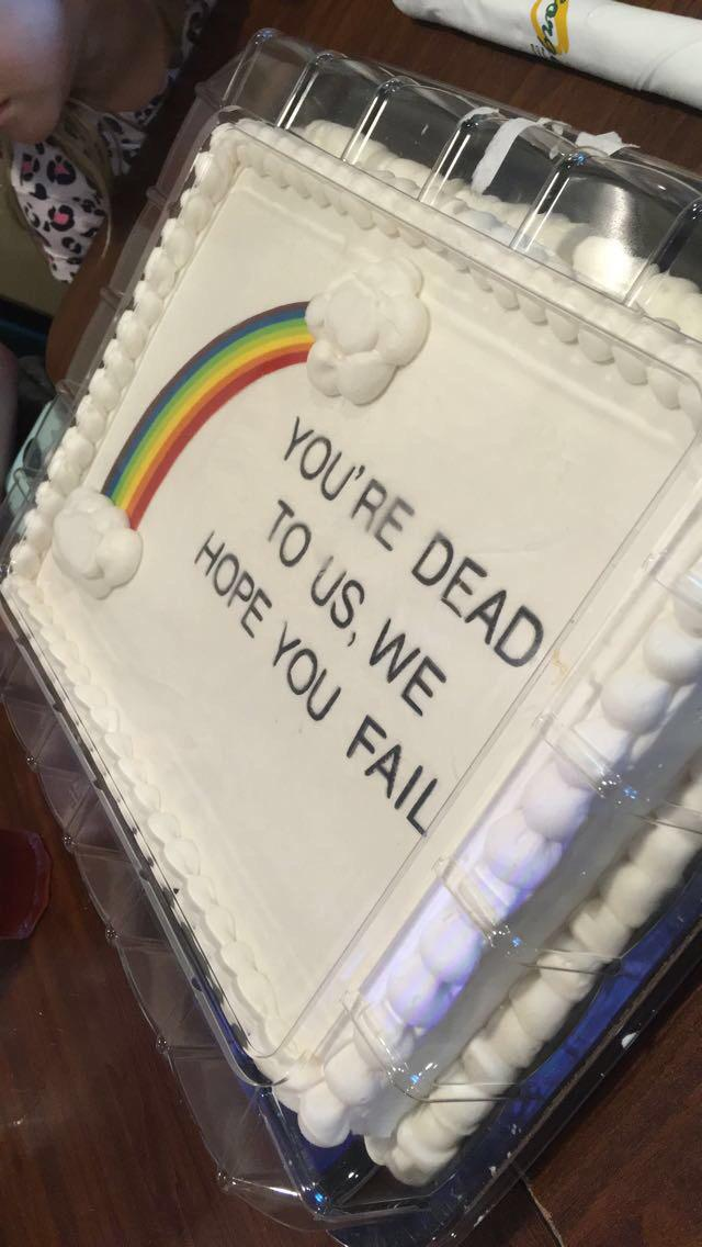 My coworker of 5 years had her last day at work today. We will miss her so we bought her a cake