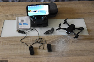 Probando mi nuevo Dron mini.....