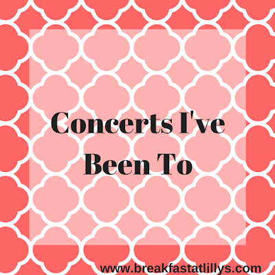 concerts I've been to