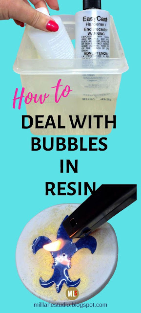 How to deal with bubbles in resin tip sheet