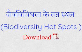 Biodiversity Hot Spots