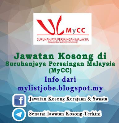 Jawatan Kosong di Suruhanjaya Persaingan Malaysia (MyCC)