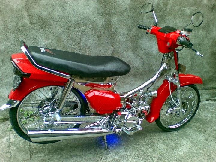 Modifikasi motor astrea prima keren warna merah
