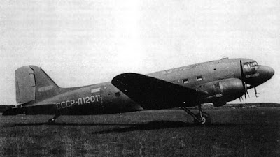 el avion Douglas C-47 de la aerolinea Aeroflot