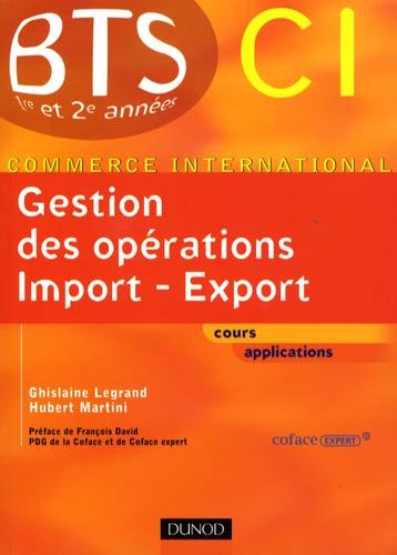 Gestion des opérations import-export BTS CI 1e et 2e années