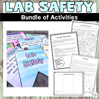 lab safety and scientific method banners, reading and project