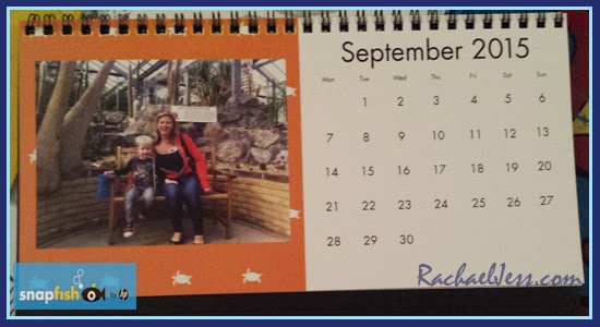 Customised photo desk calendar from snapfish