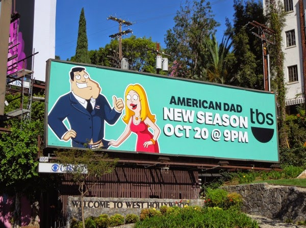 American Dad season 11 TBS billboard