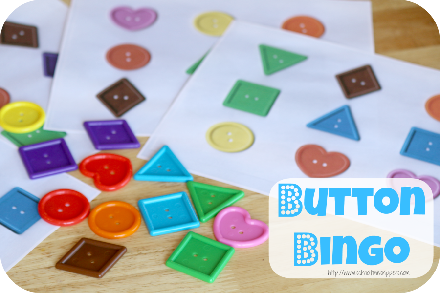 shapes bingo game for preschoolers