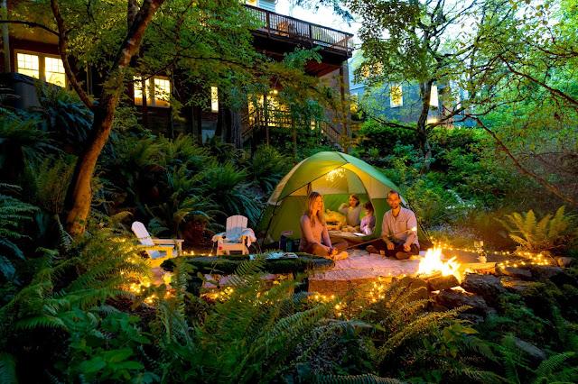 Backyard camping save area