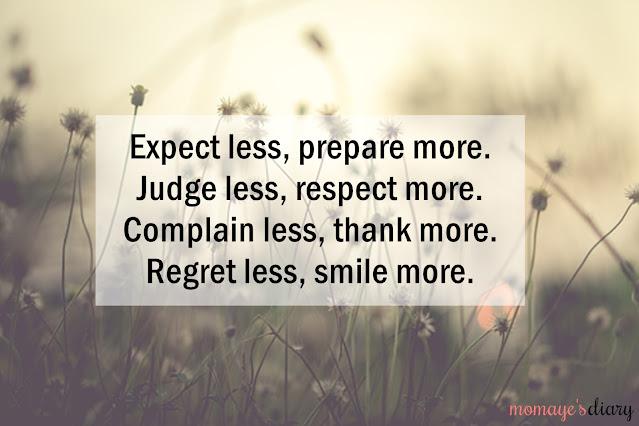 Expect less, prepare more