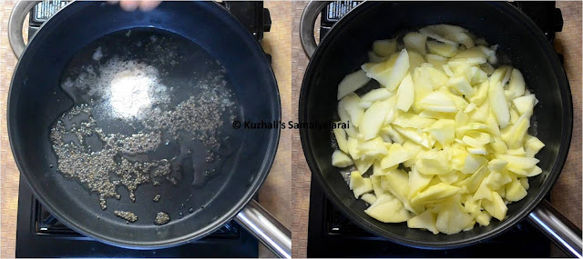 RAW MANGO THOKKU/ MANGAAI THOKKU( மாங்காய் தொக்கு) RECIPE- MANGO RECIPES