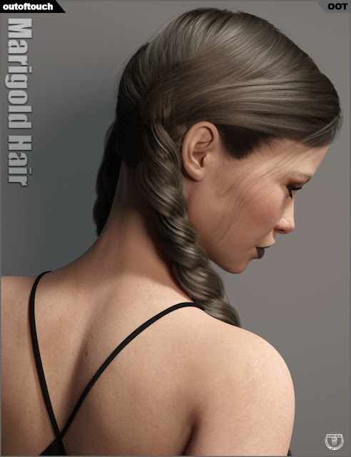 Marigold Hair for Genesis 3 and Genesis 8 Female
