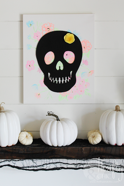Quick craft ideas for Halloween and Día de Muertos!