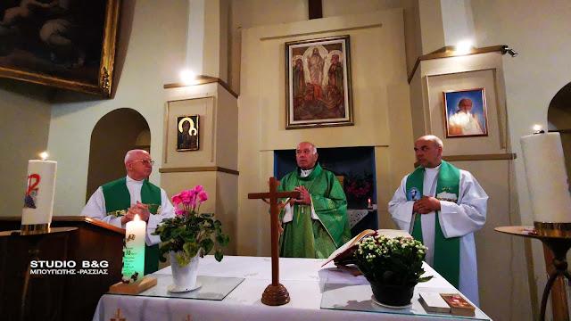 Νέος εφημέριος στην καθολική εκκλησία του Ναυπλίου παρουσία του καθολικού Αρχιεπισκόπου Αθηνών