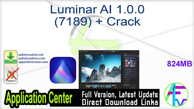 Luminar AI 1.0.0 (7189) + Crack
