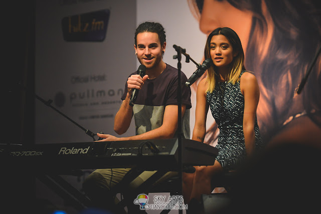 UsTheDuo listening to fans' question with much attention
