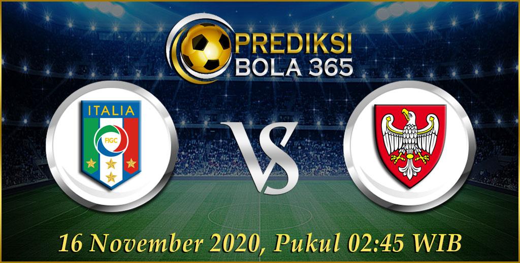 Prediksi bola Italia Vs Polandia 16 November 2020