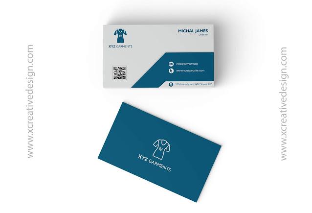 visiting card design for garments