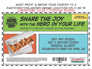 Krispy Kreme coupons december 2016