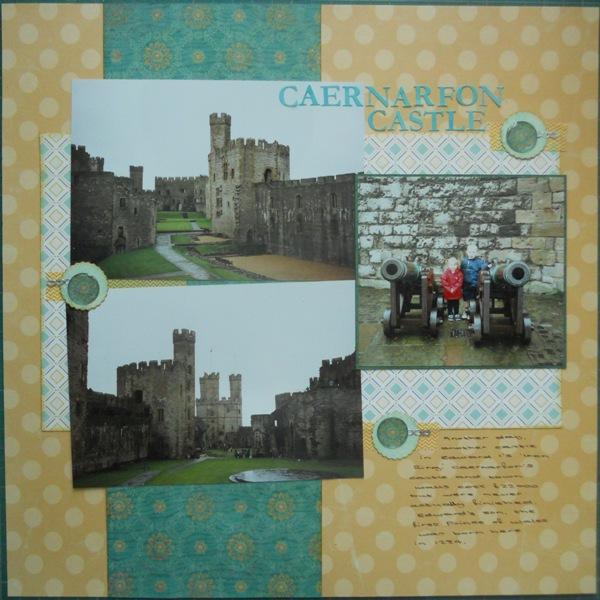 Amanda S Scrapbook Pages Caernarfon Castle