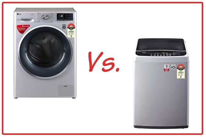 LG FHT1408ZWL (left) and LG T65SNSF1Z (right) Washing Machines.