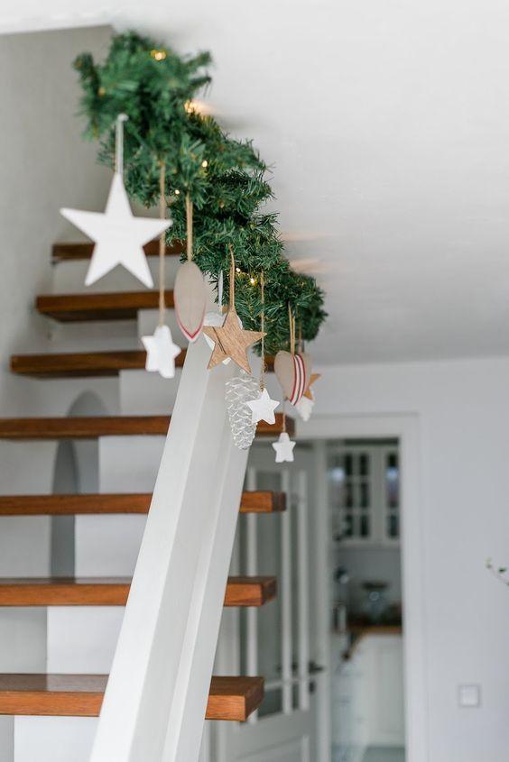 Decoração de Natal para Escadas, lindas idéias