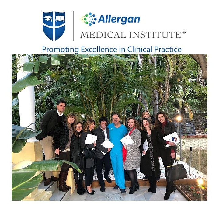 La Doctora Raquel Moreno en el 'Train the Trainers' del Medical Allergan Institute