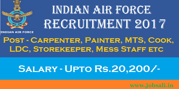 Air Force Vacancy, Indian Air force Group C Recruitment, Air Force Career