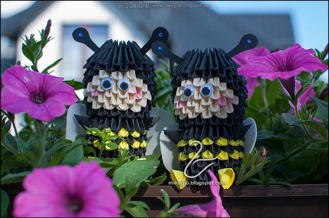 568. Pszczółki z origami / 3d origami little bees