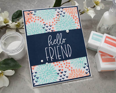 Concord & 9th, Buds & Blossoms Stamp Set, Concord & 9th Inks, Concord & 9th Card Stock, Hello Friend, handmade card, any occasion card
