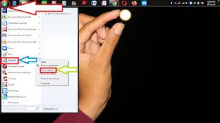 cara buat daftar menu di bawah layar laptop