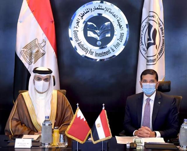 رئيس هيئة الاستثمار يبحث مع سفير البحرين سبل تعزيز الاستثمارات البحرينية في مصر