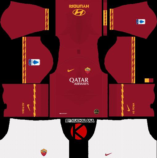 AS Roma 2019/2020 Kit - Dream League Soccer Kits